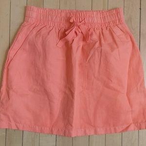 J. Crew salmon/coral mini skirt with pockets 0